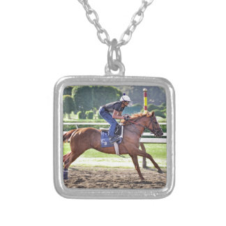 Chad Brown Workouts during Saratoga 150 Silver Plated Necklace