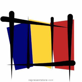 Chad Brush Flag Cutout