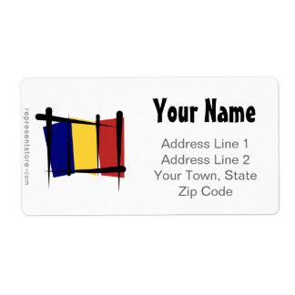 Chad Brush Flag Label