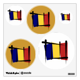Chad Brush Flag Wall Decal