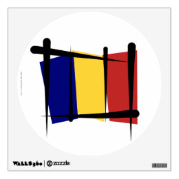 Chad Brush Flag Wall Sticker