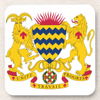Chad Coat Of Arms Beverage Coaster