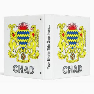 Chad Coat of Arms Vinyl Binder