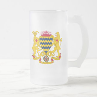 Chad Coat Of Arms Frosted Glass Beer Mug