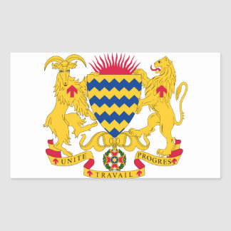 Chad Coat of Arms Rectangular Stickers