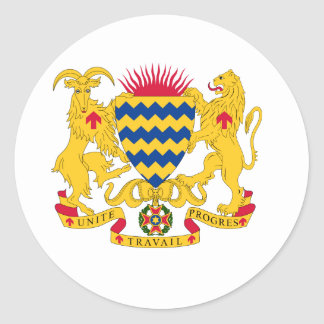 Chad Coat of Arms Round Stickers