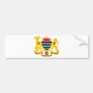 Chad Coat of arms TD Bumper Sticker