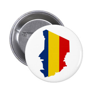 chad country flag map shape silhouette symbol button