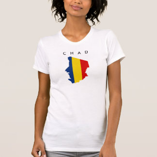 chad country flag map shape silhouette symbol T-Shirt