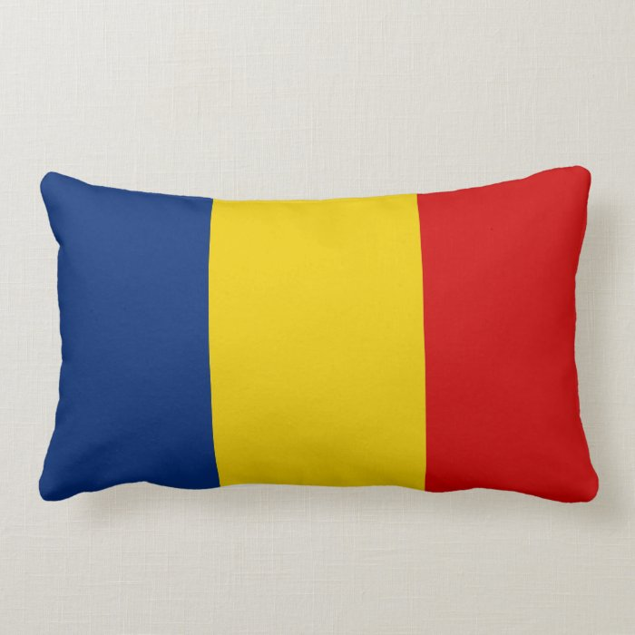 chad country flag pillow
