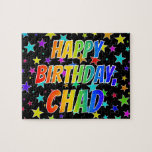 "[ Thumbnail: ""Chad"" First Name, Fun ""Happy Birthday"" Jigsaw Puzzle ]"