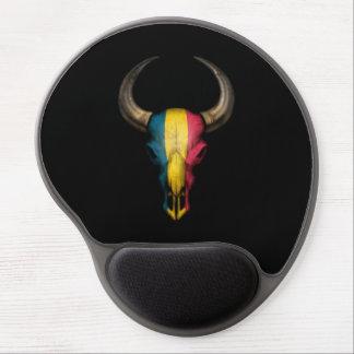 Chad Flag Bull Skull on Black Gel Mouse Mat