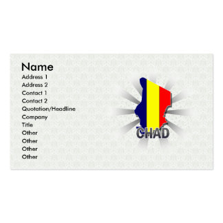 Chad Flag Map 2.0 Business Card Template