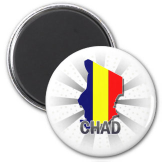 Chad Flag Map 2.0 Magnet