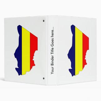 Chad Flag Map full size Binder