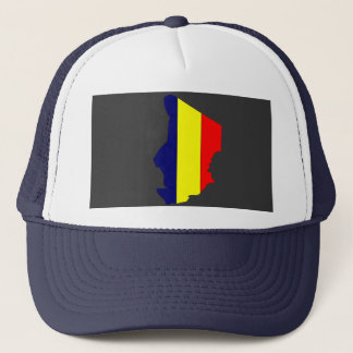 Chad flag map trucker hat