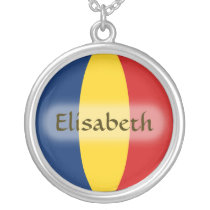Chad Flag   Name Necklace