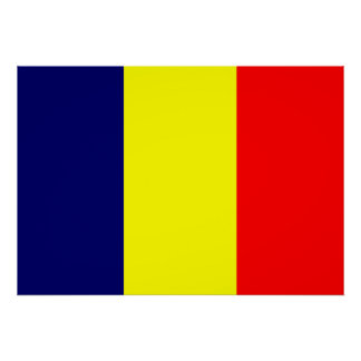 Chad Flag Poster