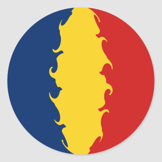 Chad Gnarly Flag Classic Round Sticker