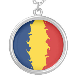 Chad Gnarly Flag Silver Plated Necklace