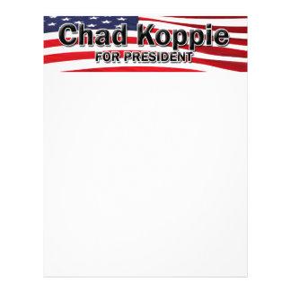 "Chad Koppie for President 8.5"" X 11"" Flyer"