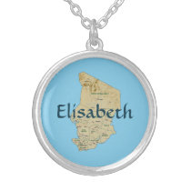 Chad Map   Name Necklace
