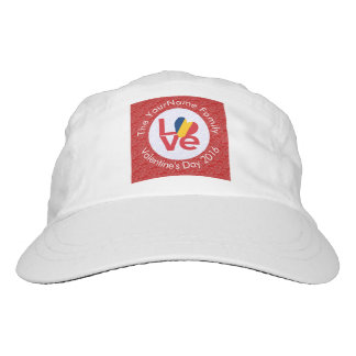 Chadian LOVE White on Red Headsweats Hat