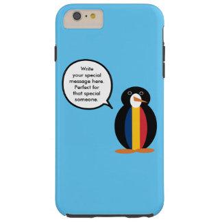 Chadian Talking Penguin Tough iPhone 6 Plus Case