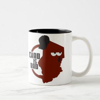 chadisrad.com main logo Two-Tone coffee mug