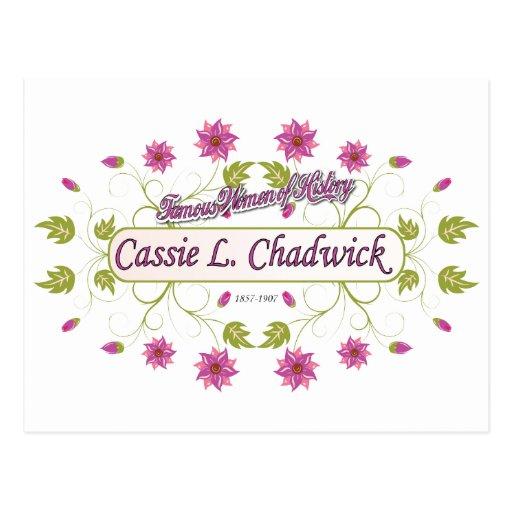 Chadwick ~ Cassie L ~ Famous American Women Post Card