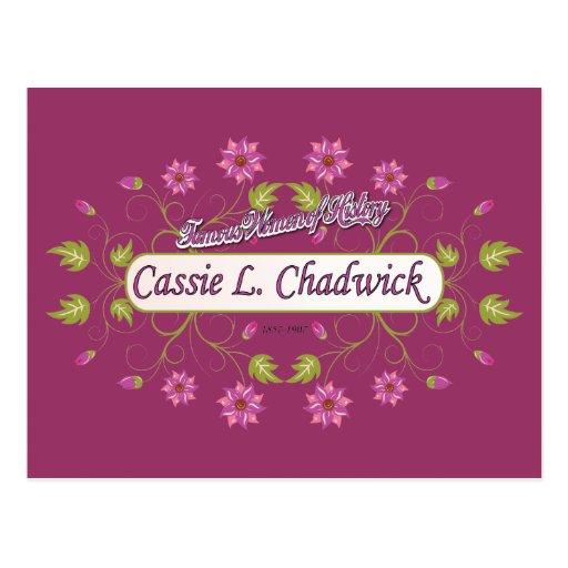 Chadwick ~ Cassie L ~ Famous American Women Postcard