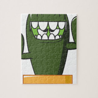 Chadwick the Cantankerous Cactus Jigsaw Puzzle