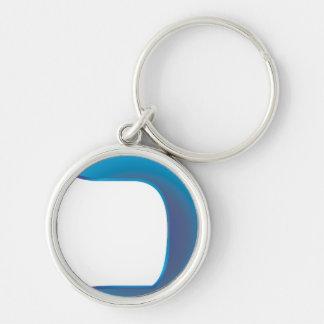 Chaf Zafiro Silver-Colored Round Keychain