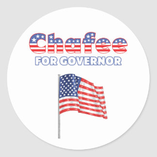 Chafee for Governor Patriotic American Flag Classic Round Sticker