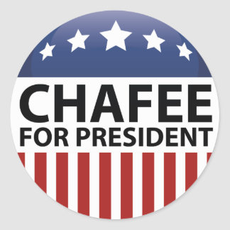 Chafee For President Classic Round Sticker