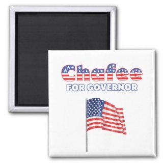 Chafee para la bandera americana patriótica del go imán cuadrado