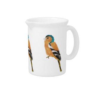 Chaffinch Bird Art Beverage Pitcher