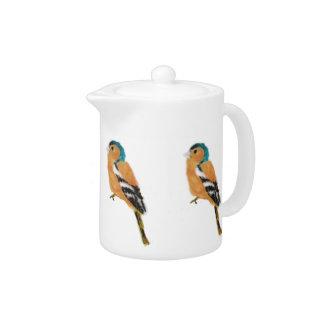 Chaffinch Bird Art Teapot