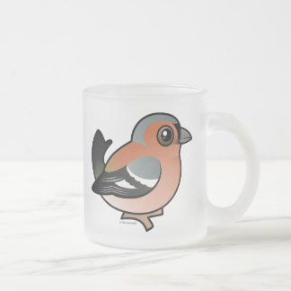 Chaffinch Frosted Glass Coffee Mug