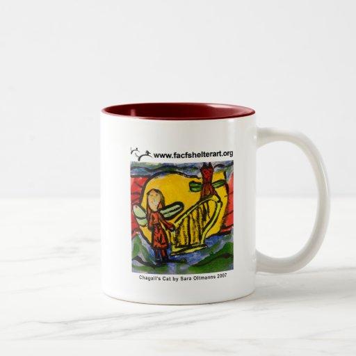 Chagall's Cat Coffee Mugs