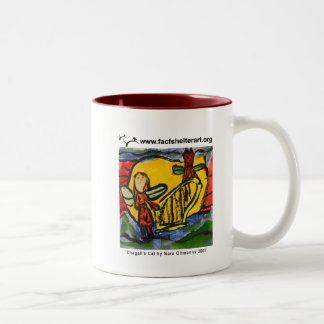 Chagall's Cat Two-Tone Coffee Mug