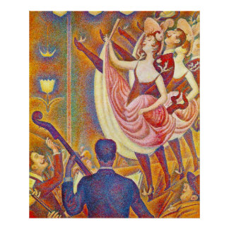 Chahut, by Georges-Pierre Seurat Poster