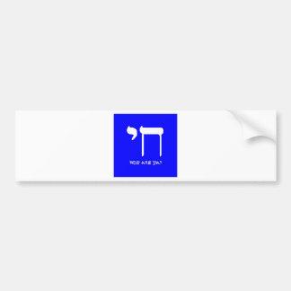 Chai 2, azul eléctrico de Booga Pegatina Para Auto