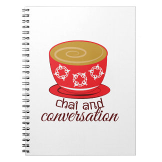 Chai And Conversation Spiral Note Book