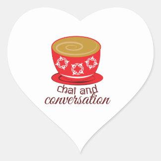 Chai And Conversation Heart Sticker