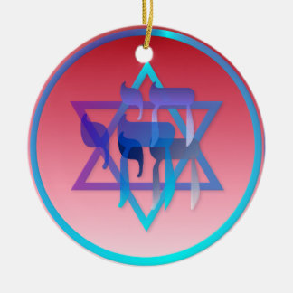 Chai and Star of David Ornaments