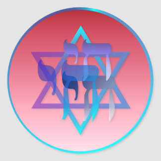 Chai and Star of David Stickers