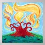 Chai Burning Bush Poster