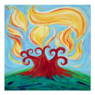 Chai Burning Bush Posters