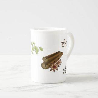 Chai condimenta la taza de la especialidad taza de porcelana